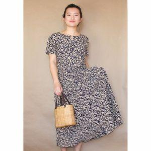 (89) vtg liz american floral printed maxi dress